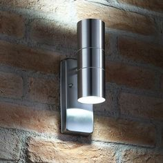 2 PACK IP44 Outdoor Wall Lamp –Stainless Steel Traditional Lantern–Porch Uplight