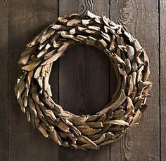 Drift wood Wreath   Restoration Hardware...... love this!