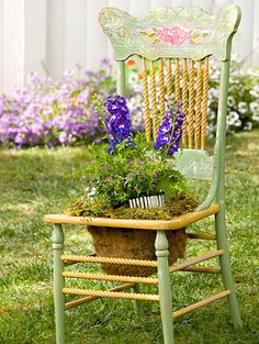 Creative Chair Planters For Home Garden