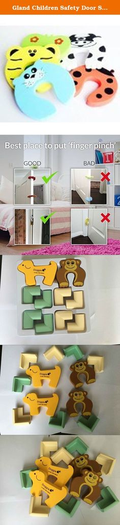 Gland Children Safety Door Stopper. No Finger Pinch Foam ,Colorful Cartoon Animal Cushion - Ramdom Bundled Baby Child Kid Cushiony Finger Hand Safety, Curve Shaped Door Stop Guard 5 Pcs Pack. Product Description Children Safety Finger Pinch is your best solution to keep children's tiny hands and fingers safe. This is one of the most practical child proofing accessories that Parents of active little babies must have. It gives each family peace of mind to let their children enjoy indoor...