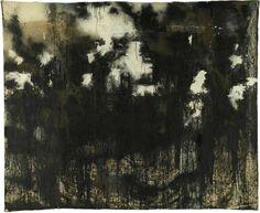 Landscape 301 b John Virtue Acrylic, ink, shellac emulsion & earth on canvas, 275 x 330 cm Black And White Painting, Black Art, Your Paintings, Landscape Paintings, Landscapes, 20th Century Painters, Etching Prints, Plastic Art, A Level Art