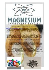 What are the heath benefits of taking magnesium supplements?
