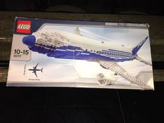 LEGO SET 10177 BOEING 787 DREAMLINER WITH BOX. ESTATE FIND Lego Airport, Boeing 787 Dreamliner, Geek Gear, Lego Sets, Ship, Box, Lego Games, Snare Drum, Ships