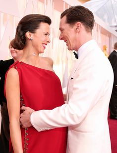 Pin for Later: Oscars 2015: You Definitely Didn't See These Moments on TV Sophie Hunter and Benedict Cumberbatch