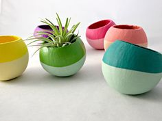 Cyber Monday//Ombre Colorblock Mini Air Plant Pods  (Plant Not Included) // Home Decor // Air Plant Planter on Etsy, $8.00