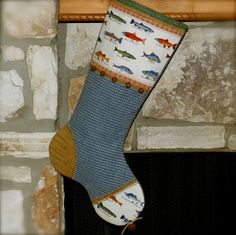 Duck hunting christmas stocking mr drake bird for Fish christmas stocking