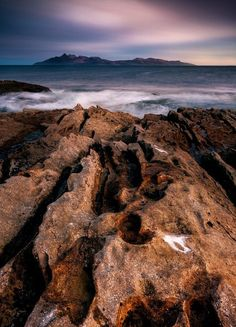 Isle Skye across the sea to the Isle of Rum, Scotland