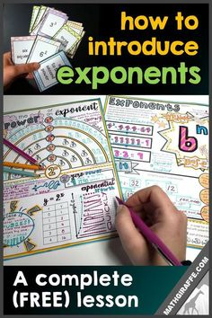 free lesson for introducing exponents in middle school pre-algebra