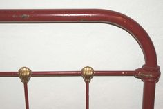 Detail Claret Red Single Antique French Bed