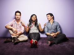 Ed Weeks, Mindy Kaling and Chris Messina in the new comedy The Mindy Project on FOX.