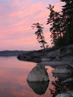 This has to be one of my favourite sunsets. It was taken near Atikokan, Ontario. Summer Nature Photography, Beautiful Landscape Photography, Scenic Photography, Beautiful Landscapes, Get Outdoors, The Great Outdoors, Watercolor Landscape, Landscape Paintings, Watercolour