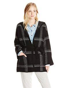 3b1f87ece65ea8 Buy OBEY Women s Flynt Wrap Oversized Sweater Coat online