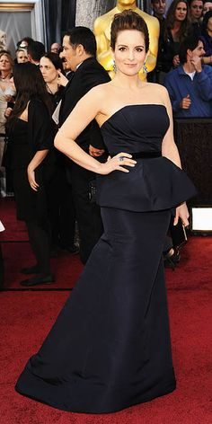 Tina Fey in Carolina Herrera at the Oscars