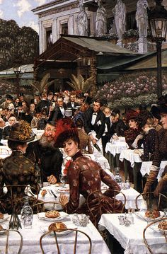 James Jacques Joseph Tissot (1836-1902)  The Artist's Ladies  Oil on canvas  1883-1885