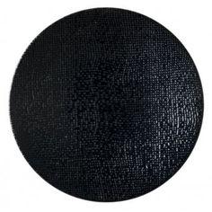 assiette plate en grés émaillé diam. 26cm noir