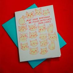 The Good Twin   Cats and Cake Card
