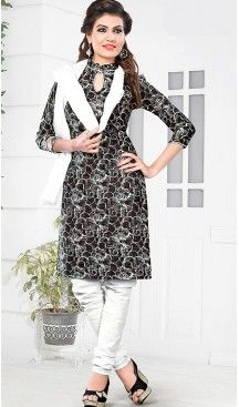 Black Color Cotton Fabric Stitched Churidar Suit with Dupatta | FH448370481 #casual, #salwar, #kameez, #online, #trendy, #shopping, #latest, #collections, #summer,#shalwar, #hot, #season, #suits, #cheap, #indian, #womens, #dress, #design, #fashion, #boutique, #heenastyle, #clothing, #cotton, #printed, #materials, @heenastyle