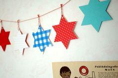 Hanukkah Star of David garland by Prudent Baby