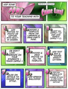 Teacher's Guide for Comic Life #comiclife #tpt