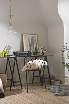 Lovely nook with home office