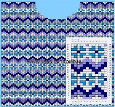 MES FAVORIS TRICOT-CROCHET: Le jacquard Fair Isle Knitting Patterns, Knitting Paterns, Knitting Charts, Loom Knitting, Knitting Stitches, Knitting Designs, Knitting Tutorials, Free Knitting, Motif Fair Isle