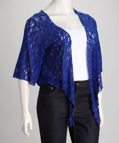 Take a look at this Royal Lace Plus-Size Bolero by Star Vixen on #zulily today!
