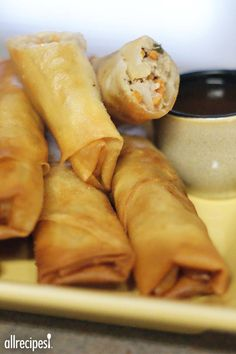"Filipino Lumpia | ""These were great. My husband grew up in the Philippines and was craving lumpia. The only change I made was sesame oil instead of vegetable oil. The sesame oil really makes a big difference."""