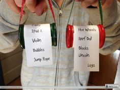 Cute what I want for Christmas ornaments - make a new one every year to remember! :)