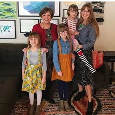 Love a family of ladies in Hum! Thanks for sharing this pic of your cute girls & mamma @kerrielinjohnson #humstitchery #humstitcherywomens