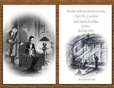5x7 Halloween themed/Addams Family Baby Shower by NhelyDesigns, $12.00