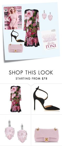 """""""#134"""" by ec300 ❤ liked on Polyvore featuring Post-It, Dolce&Gabbana, Gianvito Rossi, L. Erickson and Chanel"""