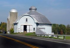 This beautiful Round barn is in Greene, NY