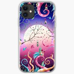 I created this piece, inspired by Tim Burton's aesthetic. It is colorful and whimsical and it makes me feel like I am in a fairytale. Iphone Wallet, Iphone 11, Dusk, Ipad Case, Iphone Case Covers, Fairytale, Whimsical, Connection, Digital Art