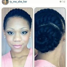 Natural hair flat twists