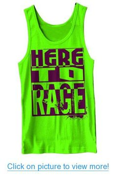 Here To Rage Tank Neon Green Top