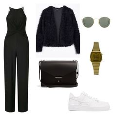 """""""Jumpsuit"""" by andreakri on Polyvore featuring Miss Selfridge, NIKE, Ray-Ban, Casio and PB 0110"""