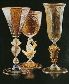 salviati glass Murano Goblets