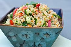 Thai Quinoa Salad with Fresh Herbs and Lime Vinaigrette | Sunday Suppers with Lunchbox Love #lunchbox_love
