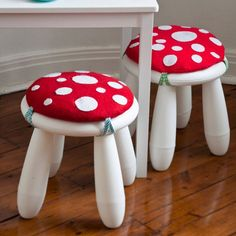 Use IKEA stool and make pillow. Great fairy tale idea to go with some of the books I loved as a child.