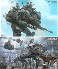 Hawken: Multiplayer online de Khang Le já em beta | THECAB - The Concept Art Blog