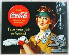 コカ コーラ メタル サインプレート C_画像1