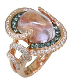 18KR Kunzite, Green Sapphire and Diamond Ring The Judy Mayfield Collection, http://www.amazon.com/dp/B0067PSRWU/ref=cm_sw_r_pi_dp_iHdvqb0E86V3P