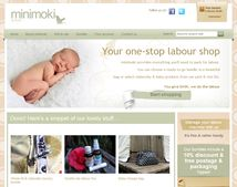 Online shop web design for minimoki