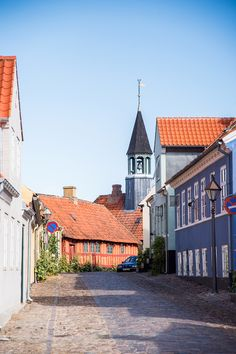 Ebeltoft, Denmark is a beautiful little village in Jutland, and I fell in love with the colorful cobblestone streets and sunny harbor! Croatia Travel, Thailand Travel, Italy Travel, Bangkok Thailand, Urban Setting, Las Vegas Hotels, Aarhus, Copenhagen Denmark, Nightlife Travel