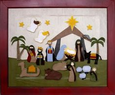 Nativity Advent Calendar-I really want to do this!
