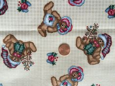Daisy Kingdom Christmas Tossed Teddy Bears Past and Presents 1998 Cotton Fabric | eBay