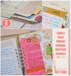 Gratitude Journal with Monika Wright | iloveitall.etsy.com