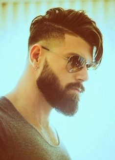 Mens Hairstyles With Beard, Hipster Hairstyles, Cool Hairstyles For Men, Boy Hairstyles, Haircuts For Men, Medium Length Hair Men, Medium Hair Styles, Beard Styles For Men, Hair And Beard Styles