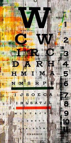 Eye Chart on White Barn