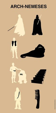 Star wars arch nemeses (in my head I'm roaring like a wookie)